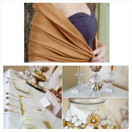 GOLD PASHMINA SHAWL ( Dark Beige ). Dark Beige Pashmina. Bridesmaids Pashminas. Wedding Shawls.