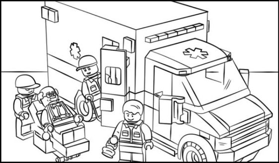 Free Ambulance Coloring Pages Printable Lego Coloring Pages Lego Coloring Lego Ambulance
