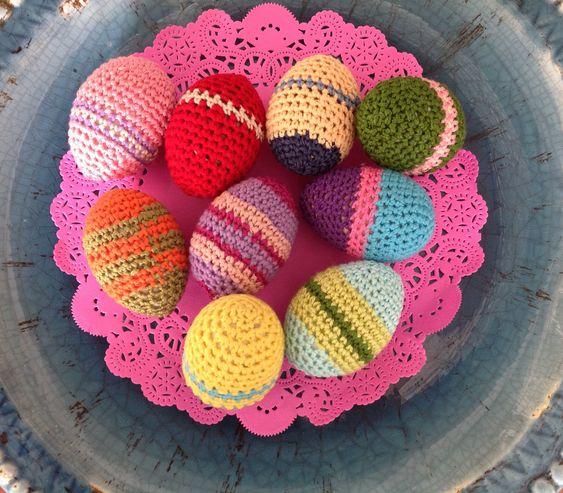 Huevos de crochet para Pascua