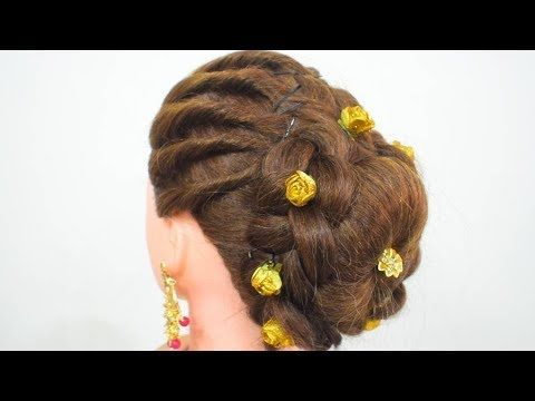 Very Beautiful And Easy Juda Hairstyle For Party Quick Easy Juda Hairstyles For Everyday 2019 Youtube Hair Styles Traditional Hairstyle Stylish Hair