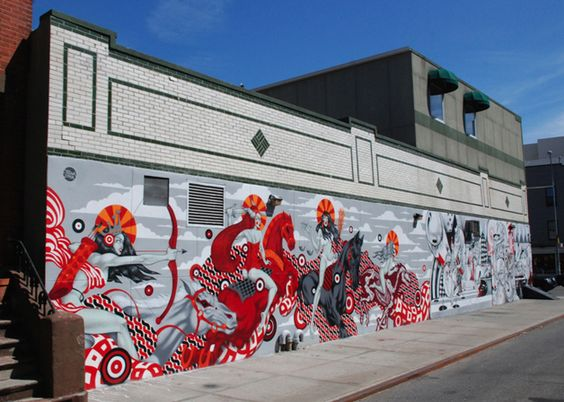 4 Horse women of the apocalypse NYC - Tristan Eaton