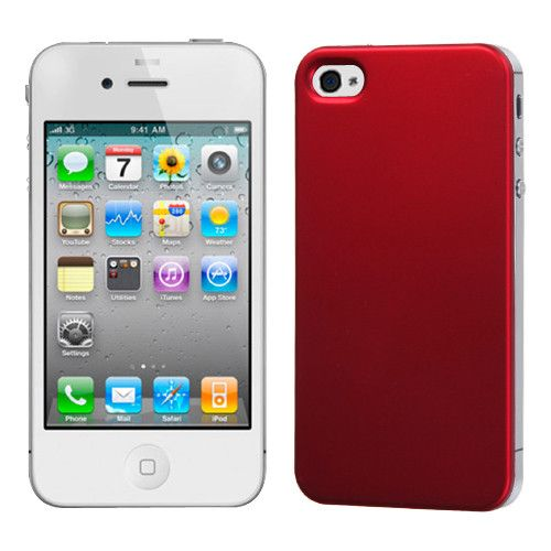 MYBAT Titanium Back Plate Cover for iPhone 4 / 4S - Red