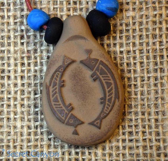 Primitive Petroglyph Southwestern Mimbres FISH by SecretCanyon, $9.95