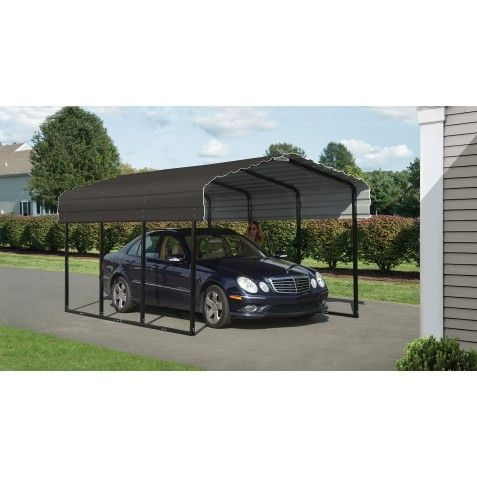 Arrow 10x15x7 Steel Carport Kit Charcoal Cphc101507 Steel