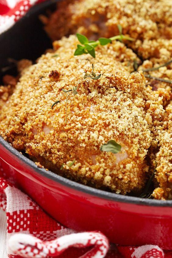 Baked chicken thigh parmesan recipe