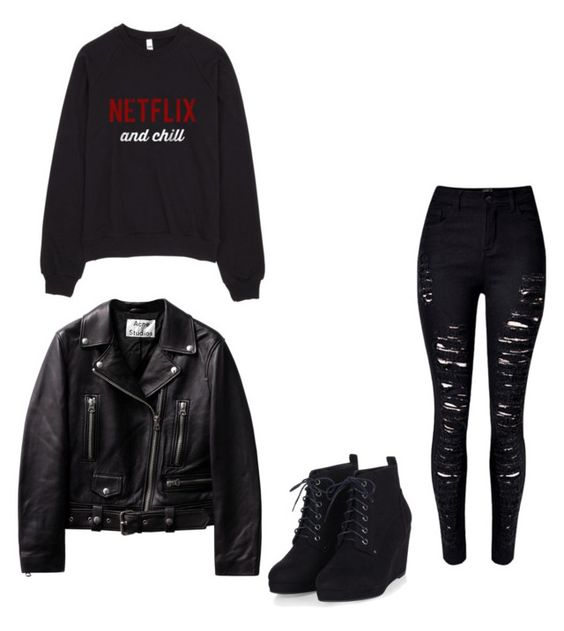 """""""ROCK N ROLL"""" by agaogludilara on Polyvore featuring women's clothing, women, female, woman, misses and juniors"""