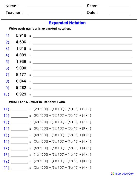 Free Worksheets Place Value Worksheets Middle School Free Math – 3rd Grade Math Place Value Worksheets