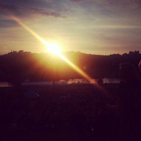 Sunset at Belvoir castle, Grantham