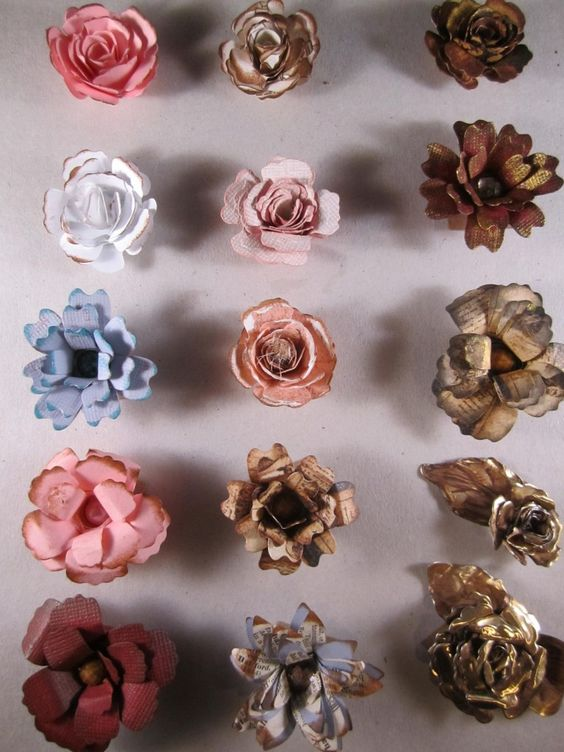 Handmade flowers blossoms and flower on pinterest for Handmade paper flowers tutorial