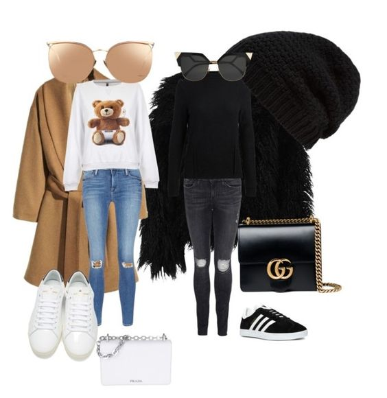 Herbst Love by tamara-katharina on Polyvore featuring polyvore, fashion, style, Moschino, Dry Lake, Frame Denim, Yves Saint Laurent, adidas, Gucci, Prada, Rick Owens, Linda Farrow, Fendi and clothing