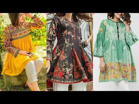 Boutique Style Tops Jhabla And Frock Style Kurties Designs New Arrival Collection Of 2019 Youtube Frock Style Kurti Frock Fashion Pakistani Outfits