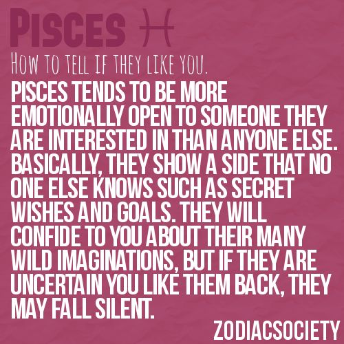 How To Know If A Pisces Likes You