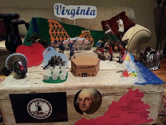 Virginia state float school project kids crafts for West to best items ideas
