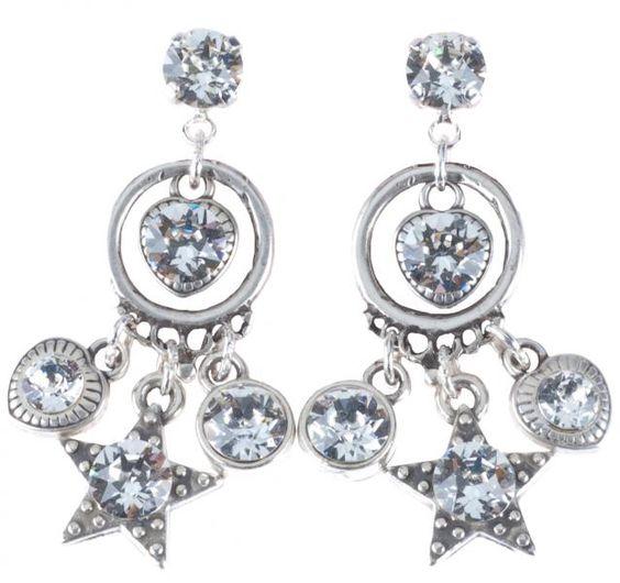 06309, earrings, oorbellen, swarovski, stars, sterren