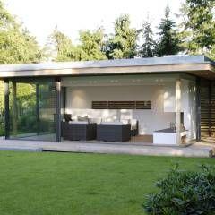 Moderner Gartenpavillion im nördlichen Ruhrgebiet: Modern Garten von Stockhausen Fotodesign