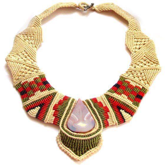 piiqshop - Market Place - macrame necklace inca figure