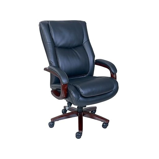 La Z Boy Winston Leather Executive Office Chair Fixed Arms Black 47011 At Staples In 2020 Executive Office Chairs Office Chair Chair
