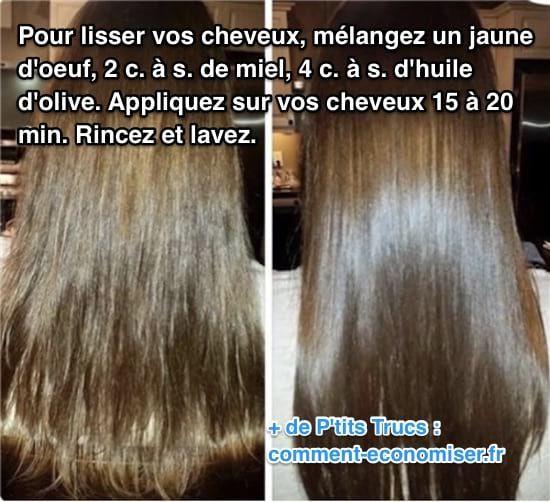 Lissez Vos Cheveux Naturellement Avec Ce Truc De Grand Mère Recette Lissage De Cheveux Avoir De Beaux Cheveux Astuce Cheveux
