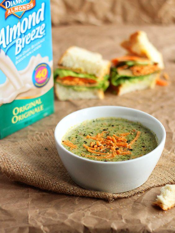 Creamy Vegan Cheddar Broccoli Soup Here's an easy... | Garden of Vegan