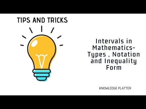 Intervals Mathematics Notations