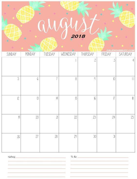 August 2018 Calendar Printable Free Calendar Template Free Printable Calendar Templates Calendar 2019 Printable