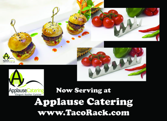 Chef Owner David Silber of Applause Catering Inc. of Toronto Canada needed a way to present gourmet mini tacos to their guests at the events. Our Chef Series Mini Triple and Six Shooters will now be how they present their gourmet mini tacos!