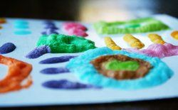 homemade puffy paint - must try!