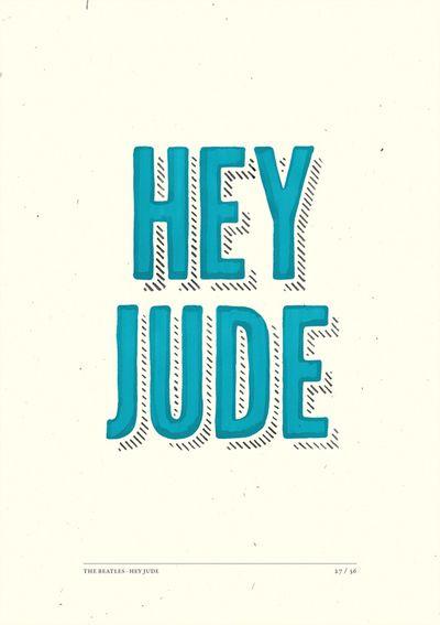 Lovely, Hey Jude lyrics illustrated type