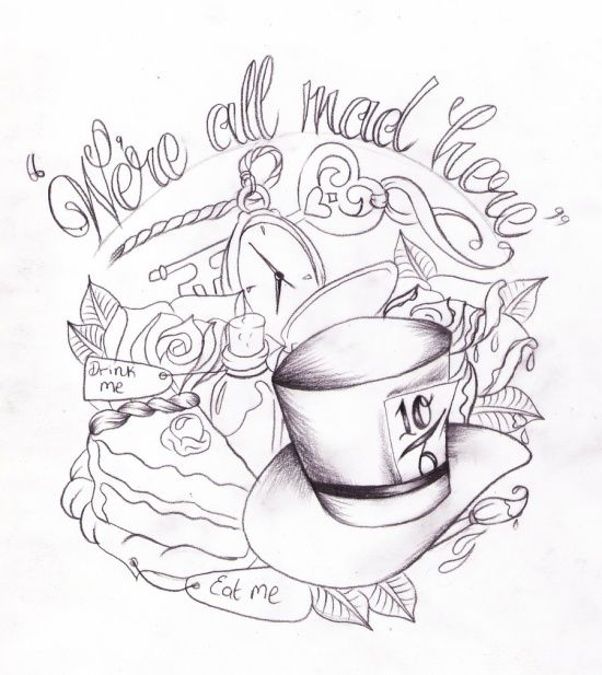 Alice in Wonderland tattoo design | Brain Drain