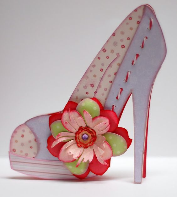 Paper Creations By Kristin High Heel Shoe Card Paper Shoes Shoe Template High Heel Shoes