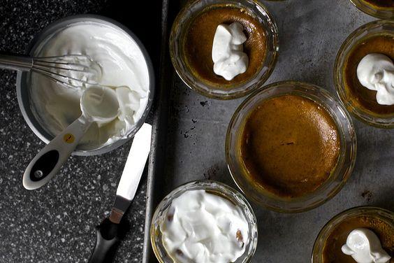 Baked Pumpkin & Sour Cream Puddings | food | Pinterest | Baked Pumpkin ...