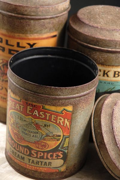 vintage spice cannisters