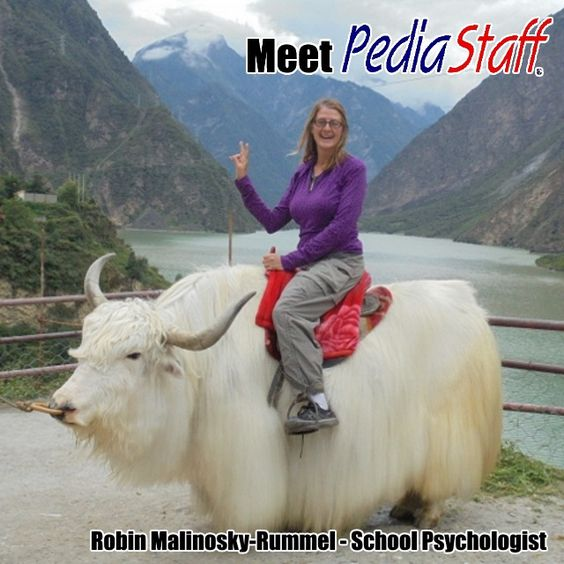 Meet PediaStaff! An Interview with Robin Malinosky-Rummel, School Psychologist  In my time as a Speech Pathologist and writer I've interviewed probably a hundred clinicians, school district employees, and educators who are experts in their field. Generally those interviews are straight to the point, and the interviewees are relatively closed in terms of sharing their passions and
