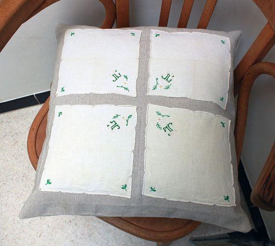 Housse de coussin toile vintage en métis par UnChatsurleToit