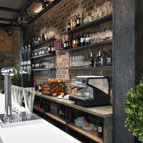 Bar Counter 3d Model Max Obj 3ds Fbx Mtl Mat 3 Basementbar Cafe Interior Design Coffee Shop Decor Coffee Shop Bar
