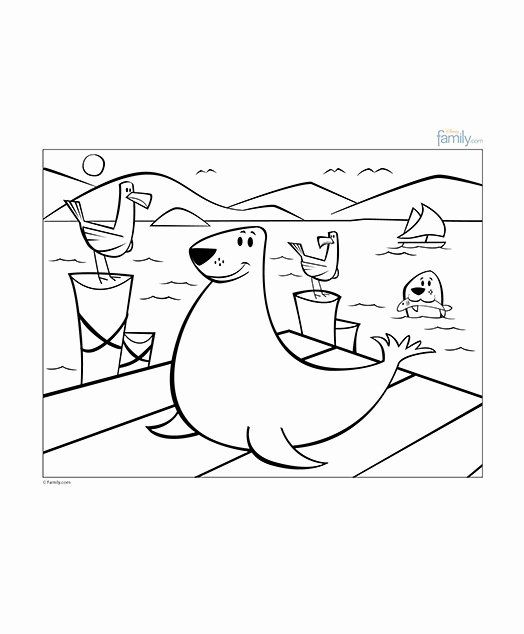 Sea Lion Coloring Page Lovely Fisherman S Wharf Coloring Sheet