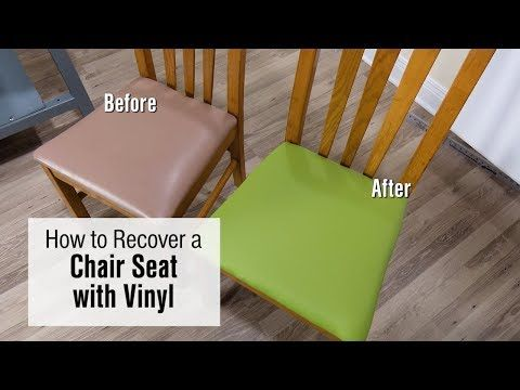 Magnificent How To Re Cover A Chair Seat With Faux Leather Vinyl Fabric Theyellowbook Wood Chair Design Ideas Theyellowbookinfo