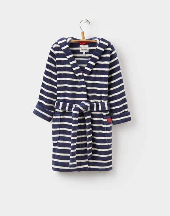 Roban Navy Stripe Character Dressing Gown | Joules UK | boys sleep ...