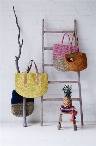 Basket bags - Barefoot Gypsy - Product Showroom 2014 See Barefoot Gypsy at Reed Gift Fairs Melbourne August Stand: SG1745