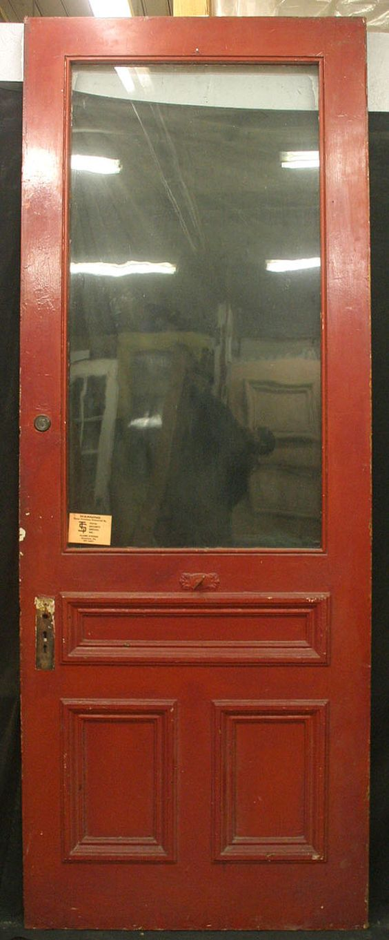 36 Quot X95 Quot Antique Exterior Entry Pine Door Large Wavy Glass
