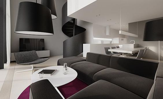 tamizo architects group . projects . interiors . flat interior design soft loft warsaw. architects . architecture . interiors . buildings . design . graphics