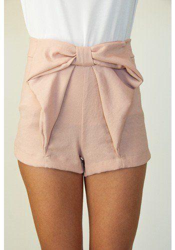 Bow Shorts - Bottoms - Apparel | Sugar and Sequins