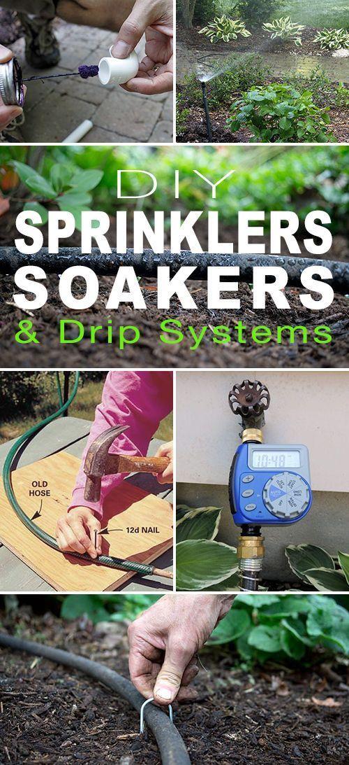 Diy Sprinklers Soakers Drip Systems The Garden Glove Drip Irrigation Diy Sprinkler System Diy Drip System