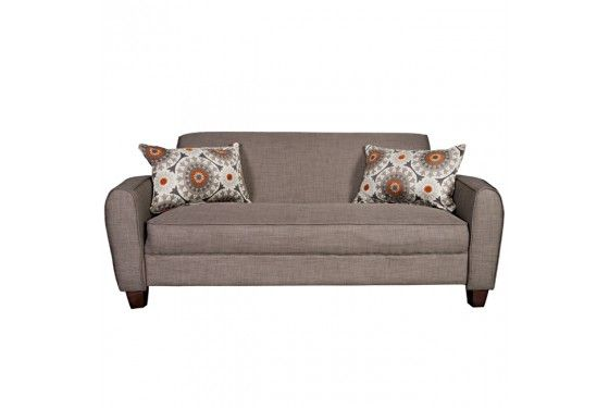 Mor Furniture For Less Angelo Home Gordon Sofa In Smoke Gray Sand Sit Down Make Yourself At