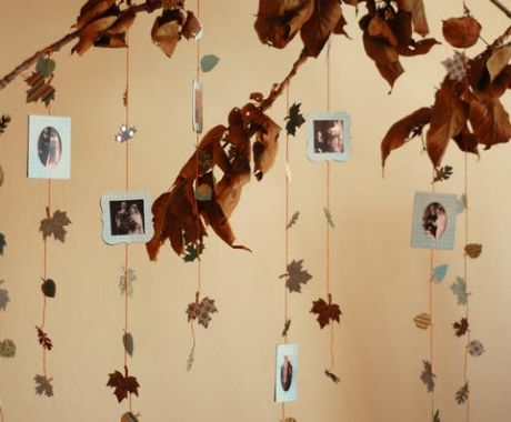 Shelly - we could get a leafy tree & hang pics from parents & grandparents wedding through to your first date etc. Get everyone at wedding to take pic of themselves with poloroid & write message on it. For your guest book & memories. What do you think?