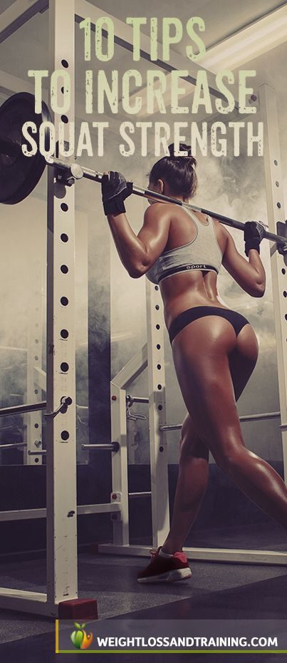 Sexy Legs & Butt: 10 Tips to Increase Your Squat Strength http://weightlossandtraining.com/10-tips-to-increase-your-squat-strength #squat #workout