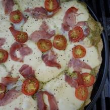 Grilluð spelt sumarpizza - Gott í matinn