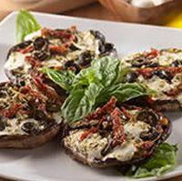 Portobello Mushrooms with Mozzarella