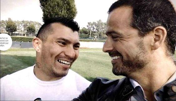 Medel con Ivan Nuñez