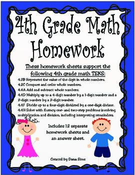 4th grade math homework helper